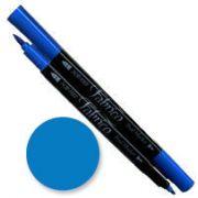 Tsukineko Fabrico Dual Marker - Cerulean Blue 119 by Tsukineko - Tsukineko Dual Tip Fabric Pens