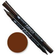Tsukineko Fabrico Dual Marker - Chocolate 154 by Tsukineko - Tsukineko Dual Tip Fabric Pens