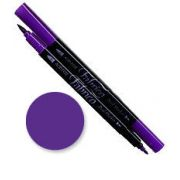 Tsukineko Fabrico Dual Marker - Peony Purple 116 by Tsukineko - Tsukineko Dual Tip Fabric Pens