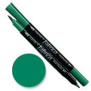 Tsukineko Fabrico Dual Marker - Emerald 121 by Tsukineko - Tsukineko Dual Tip Fabric Pens