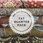 Aboriginal Art Fabric 5 Fat Quarter Bundle -  Brown by M & S Textiles Fat Quarter Packs - OzQuilts
