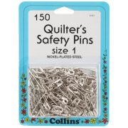 Collins Quilting Safety Pins, 150 Size 1 Pins 1 1/16in by Collins Safety Pins - OzQuilts