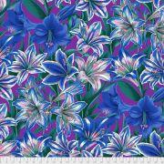 Amaryllis - Blue by The Kaffe Fassett Collective - Amaryllis