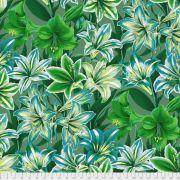 Amaryllis - Green by The Kaffe Fassett Collective - Amaryllis