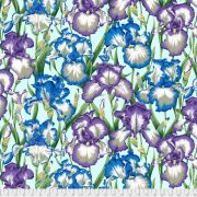 Bearded Iris - Cool by The Kaffe Fassett Collective - Bearded Iris