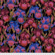 Bearded Iris - Dark by The Kaffe Fassett Collective - Bearded Iris