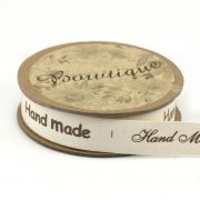 """Printed Cotton Ribbon """"Hand Made"""" 15mm wide x 5 metres by Bowtique - Ribbon"""