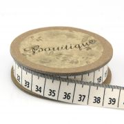 Printed Cotton Ribbon Tape Measures 15mm wide x 5 metres by Bowtique - Ribbon