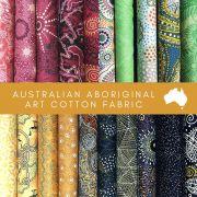 Aboriginal Art Fabric 20 Fat Quarter Bundle K by M & S Textiles Fat Quarter Packs - OzQuilts