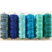 Dazzle Thread Pack- Aruba Blue by Sue Spargo Dazzle - Sue Spargo Dazzle Rayon & Metallic
