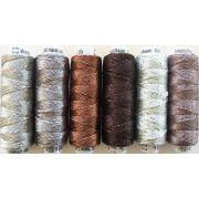 Dazzle Thread Pack- Caffeine by Sue Spargo Dazzle - Sue Spargo Dazzle Rayon & Metallic