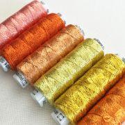 Dazzle Thread Pack- Coral Cascade by Sue Spargo Dazzle - Sue Spargo Dazzle Rayon & Metallic