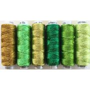 Dazzle Thread Pack- Green with Envy by Sue Spargo Dazzle - Sue Spargo Dazzle Rayon & Metallic