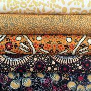 Aboriginal Art Fabric 20 Fat Quarter Bundle L by M & S Textiles Fat Quarter Packs - OzQuilts