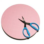 "Sue Daley 10"" Pink Rotating Cutting Mat by Patchwork with BusyFingers - Cutting Mats"