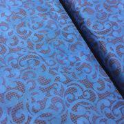 "Royal Blue Filigree 108"" Wideback by  - Wide Quilt Backs"