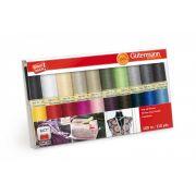 Gutermann Sew-all Thread 20 spools 20 Colours - Basic Colours by Gutermann - Gutermann Thread