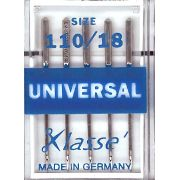 Klasse Universal Machine Needles Size 110/18 by Klasse - Machines Needles