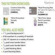 Kitty Cornered Chain Cut Loose Press Pattern by Cut Loose Press Patterns - Quilt Patterns