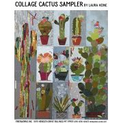 Collage Cactus Sampler Pattern by Laura Heine by Fiberworks Collage  - OzQuilts