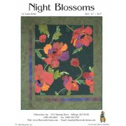 Night Blossoms Fused Applique Pattern by Laura Heine by Fiberworks Collage  - OzQuilts