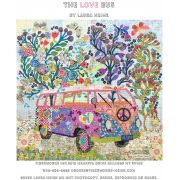 The Love Bus Collage Pattern by Laura Heine by Fiberworks Collage  - OzQuilts