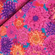 Dancing Dahlias - Red by The Kaffe Fassett Collective - Dancing Dahlias