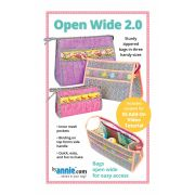 Open Wide Handy Zippered Bags 2.0 Pattern by Annie Unrein by ByAnnie - Bag Patterns