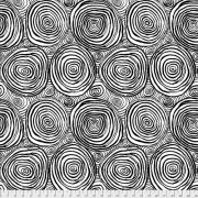 Onion Rings - Black by The Kaffe Fassett Collective - Onion Rings