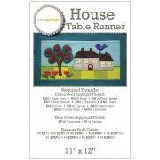 House Table Runner Pattern by Sue Spargo by Sue Spargo - Sue Spargo