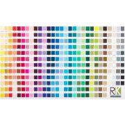 Kona Cotton Printed Color Chart Digitally Printed Fabric by Robert Kaufman Fabrics Kona Cotton - OzQuilts