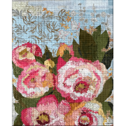 Florology Collage Pattern by Laura Heine by Fiberworks Collage  - OzQuilts
