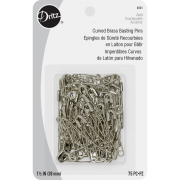 """Dritz 1½"""" Curved Brass Basting Pins (75) by Dritz - Safety Pins"""