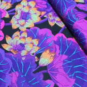 Lake Blossoms - Black by The Kaffe Fassett Collective - Lake Blossoms