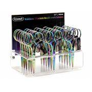 "Rainbow Titanium Needlwork Scissors 3.5""/90mm by  Scissors - OzQuilts"