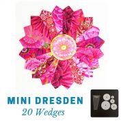 "Mini Dresden Plate Template for 5"" Squares & Mylar Centre Circles by OzQuilts Quilt Blocks - OzQuilts"