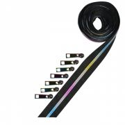 Metallic Zipper Tape Pack in Rainbow - 2 1/2 yards (228 cm) by Decorating Diva Zipper By the Yard - OzQuilts