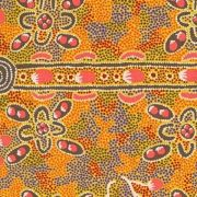 Bush Tomato Gold by Audrey Martin Napanangka by M & S Textiles Cut from the Bolt - OzQuilts