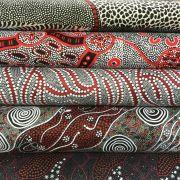 Aboriginal Art Fabric 20 Fat Quarter Bundle M by M & S Textiles Fat Quarter Packs - OzQuilts