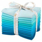 Kona Cotton 12 Fat Quarters Pool Party by Robert Kaufman Fabrics - Fat Quarter Packs