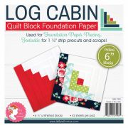 """6"""" Block Foundation Paper Pad - Log Cabin by It's Sew Emma - Foundation Papers"""