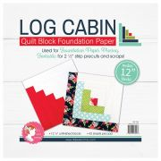 Log Cabin 12in Block Foundation Paper Pad by It's Sew Emma Foundation Papers - OzQuilts