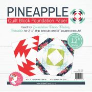 Pineapple 12in Block Foundation Paper Pad by It's Sew Emma Foundation Papers - OzQuilts