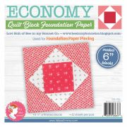 Economy Quilt Block 6in Foundation Paper Pad by Lori Holt by It's Sew Emma Foundation Papers - OzQuilts