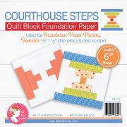 """6"""" Foundation Paper Pad - Courthouse Steps by It's Sew Emma - Foundation Papers"""