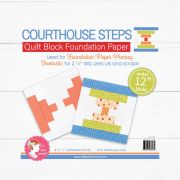 Courthouse Steps 12in Quilt Block Foundation Paper by It's Sew Emma Foundation Papers - OzQuilts