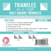 Triangles on a Roll 2in Half Square 50ft Roll by It's Sew Emma Pre-printed Triangle Papers - OzQuilts