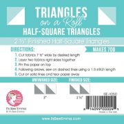 Triangles on a Roll 2-1/2in Half Square 50ft Roll by It's Sew Emma Pre-printed Triangle Papers - OzQuilts