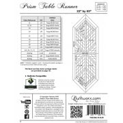 Prism Table Runner Pattern & Foundation Papers by Quiltworx by Quiltworx Patterns & Foundation Papers - OzQuilts