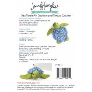 Sea Turtle Pin Cushion and Thread Catcher Pattern by Jennifer Jangles Organisers - OzQuilts